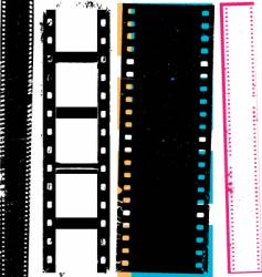 grunge film vector image vector image