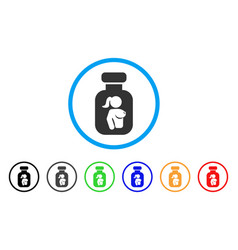 Lady breast vial rounded icon vector
