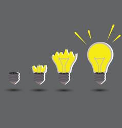 Light idea concept vector