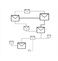 Mail connection vector image