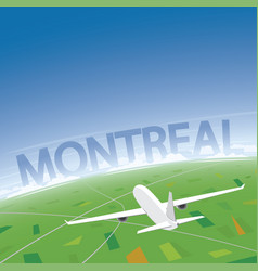 Montreal flight destination vector