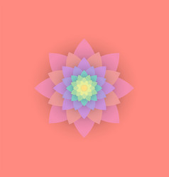 paper colored flower vector image