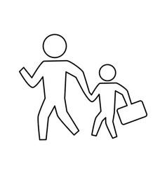 people crossing walking vector image vector image