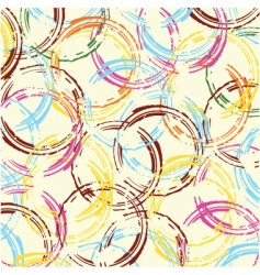 retro circles background vector image