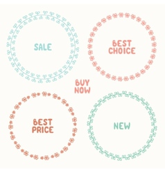 set of hand drawn style badges and elements Sale vector image vector image