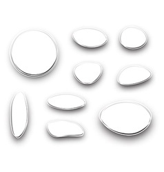 Set of white abstract backgrounds vector image vector image