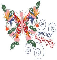 Social butterfly vector