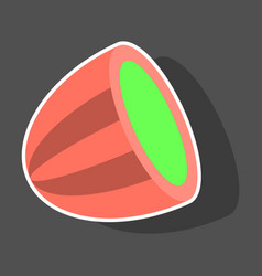 sticker fresh and juicy whole watermelon vector image