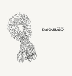 tha tradition garland flower vector image