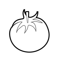 Tomato food silhouette vector