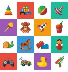 Toys icons for kids isolate on white background vector