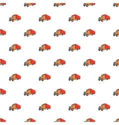 Trailer truck pattern cartoon style vector