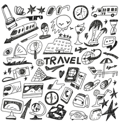 travel - doodles set vector image vector image