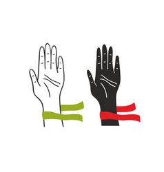 Two hands of voting people vector