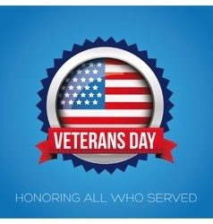 Veterans day badge vector