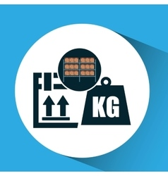 Warehouse box weight icon design vector