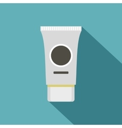 Tube of cream or gel icon flat style vector