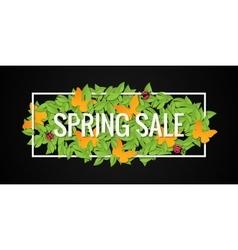 Spring Sale Banner Design Border Background vector image