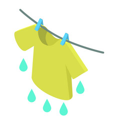 T-shirt icon isometric 3d style vector