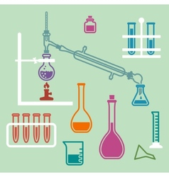 Chemistry lab equipment vector