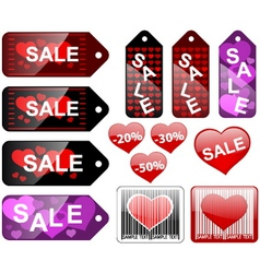 Valentines day labels vector