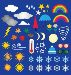 weather icons clipart vector image