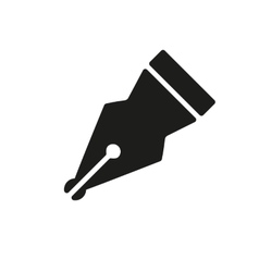The pen icon fountain pen symbol flat vector