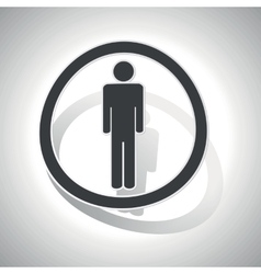 Curved man sign icon vector