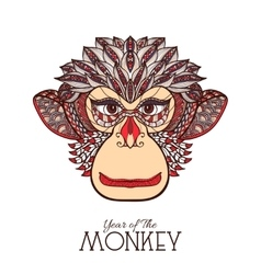 Monkey color face vector
