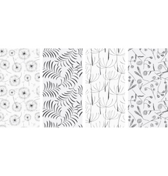 Set of seamless patterns backgrounds vector image