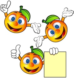 orange cartoon character vector image
