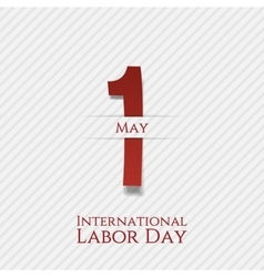 May 1 banner international labor day vector