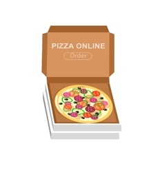 Online pizza order vector