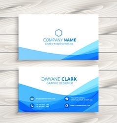 Abstract wave business card vector