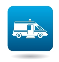Ambulance car for the disabled icon simple style vector image