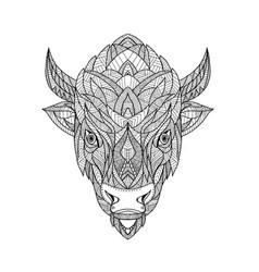 American bison zentagle vector
