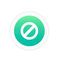 ban icon sign vector image