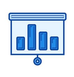 bar graph line icon vector image vector image