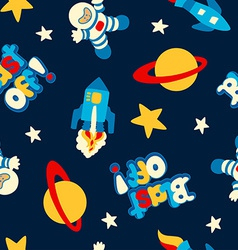 Blast off seamless pattern vector