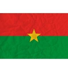 Burkina Faso paper flag vector image vector image