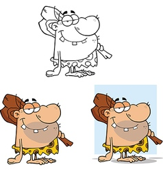 Caveman cartoon vector image vector image