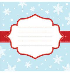 Christmas snowflake frame vector