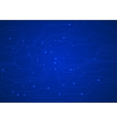 Dark blue circuit board technology background vector image vector image