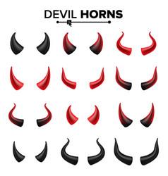 Devil horns set good for halloween party vector