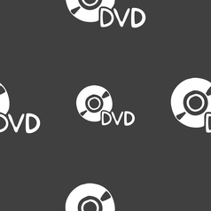 dvd icon sign Seamless pattern on a gray vector image vector image