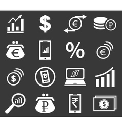 Finance icon set 2 monochrome vector