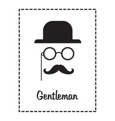 Gentleman face vector