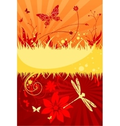 Hot summer background vector image vector image