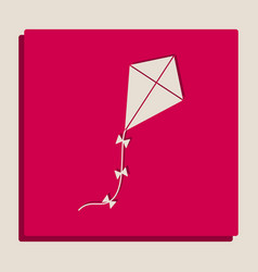 kite sign grayscale version of popart vector image