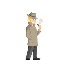 Male private detective vector